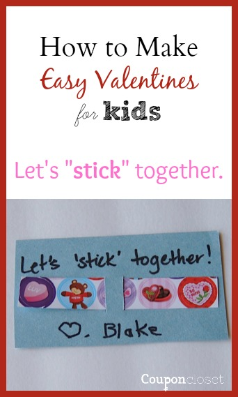 Lets Stick Together Easy Printable Valentines Day Cards