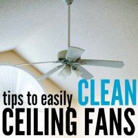 6 Easy Cleaning Ceiling Fans Tips - One Crazy Mom