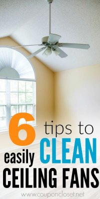 6 Easy Cleaning Ceiling Fans Tips - Coupon Closet