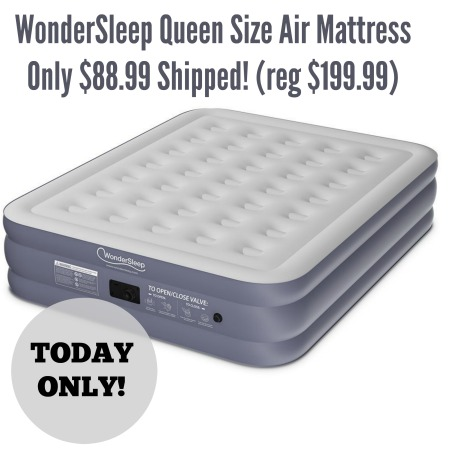 TODAY ONLY WonderSleep Queen Size Air Mattress Only 88