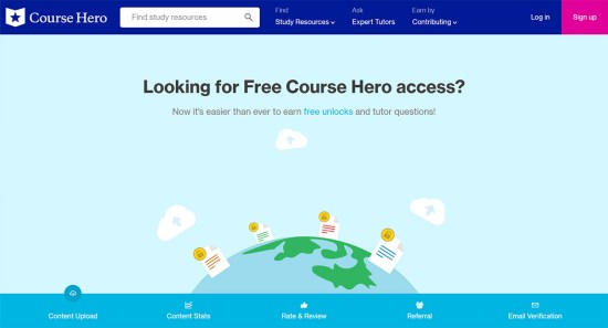 course hero free answers 2020