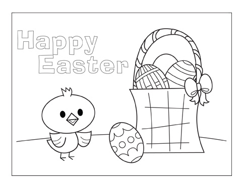 FREE Kids' Easter Coloring Pages and Greeting Cards
