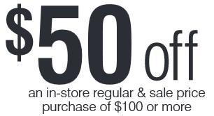$50 Off $100 Carson's Purchase Coupon! (Bon-Ton Stores!)