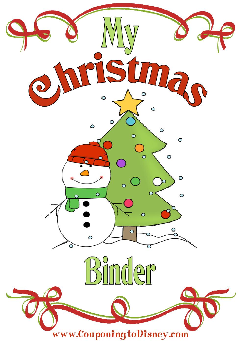 christmas binder couponing to