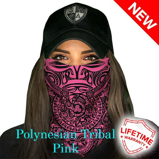 Polynesian Tribal Pink face shield