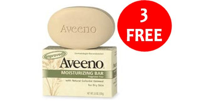CVS: 3 FREE Aveeno
