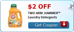 graphic relating to Arm and Hammer Detergent Coupons Printable referred to as $2 Arm Hammer Laundry Detergent Printable Coupon