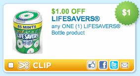 Lifesavers mints bottle