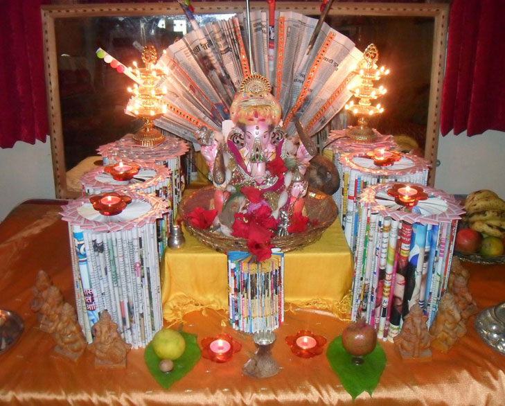 Ganpati Decor Using Paper