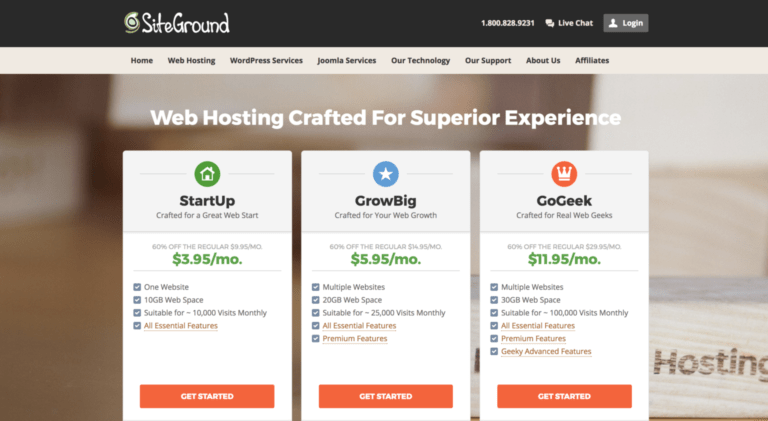 Europe top buy Siteground WordPress hosting Providers + buy Domain: Web Hosting Services   (VA 22314, US)