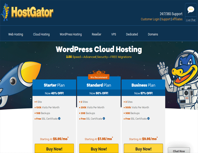 Hostgator coupon, discount on Buy WordPress hosting coupon code 2018