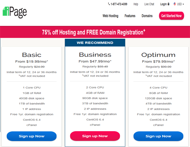 iPage coupon, discount on VPS hosting promo code, coupon 2018