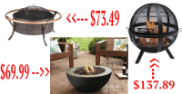 Best Deal Fire Pits: Wood Burning or Gas for as low as $25 ...