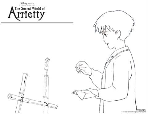 The Secret World of Arriety Coloring Pages