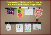Displaying Children's Art Work - How to Make a Wooden Wall ...