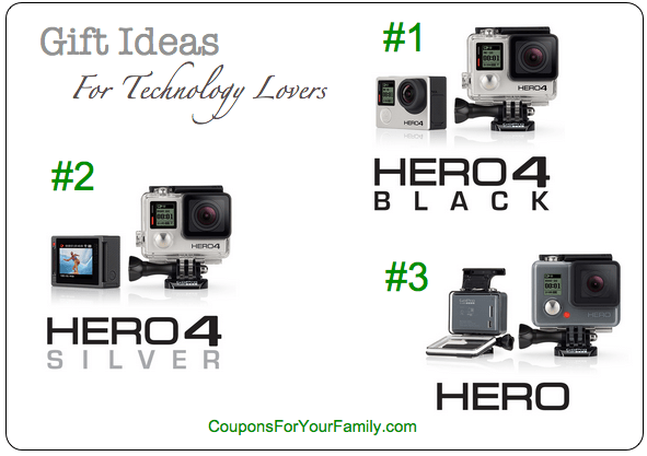 Christmas Presents and Gift Ideas: New GoPro Cameras at
