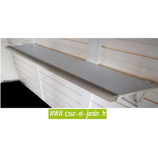 lot de 2 etageres pvc pour abris de jardin pvc evo de garofalo