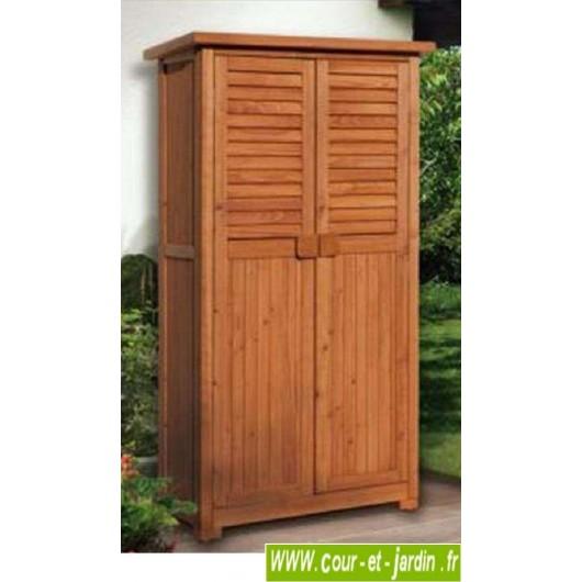 armoire de balcon haute en bois ou meuble pour balcon pepe