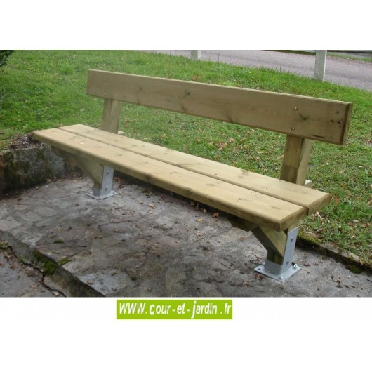 banc de jardin en bois perigord en bois avec platines