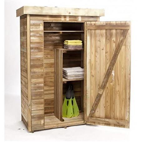armoires de jardin adossable en bois