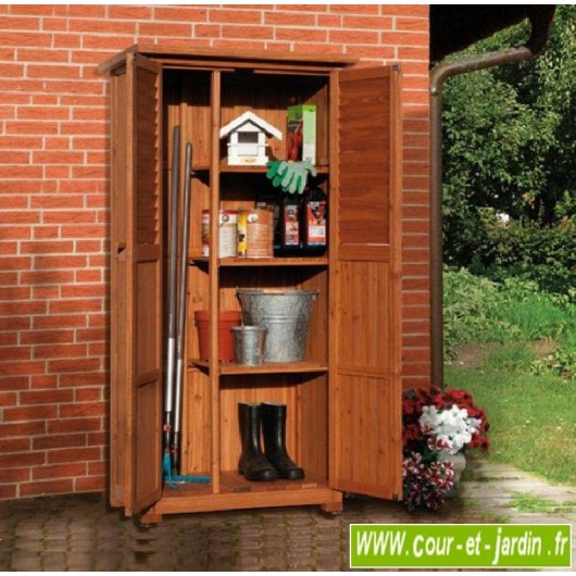 armoire haute pedro en bois pour balcon ou terrasse cette armoire de terrasse ou armoire