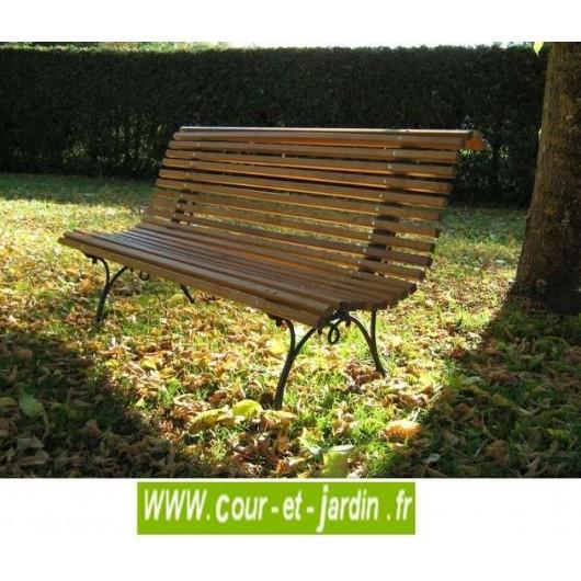 Banc de jardin en bois pas cher bancs de jardin en bois et fonte