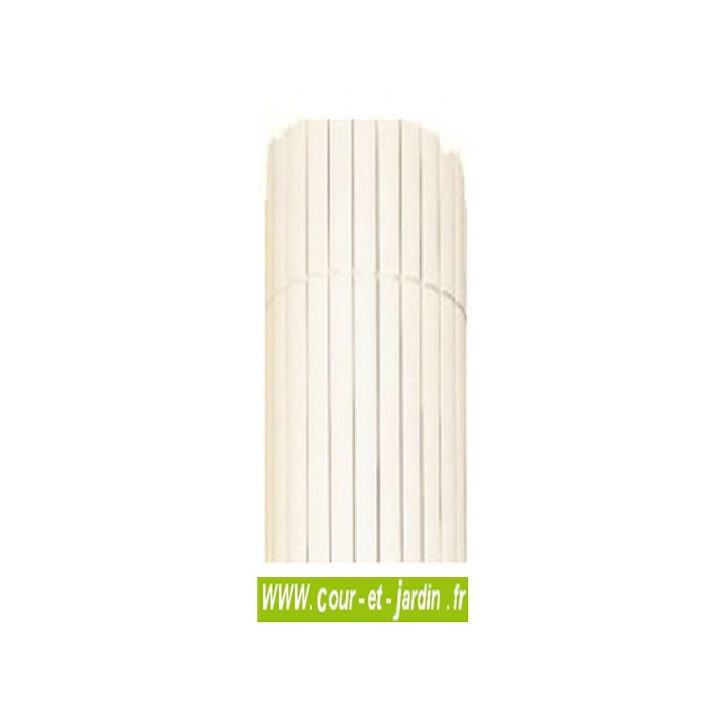canisse pvc blanc double face canisse