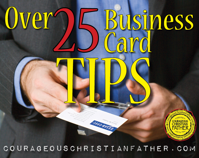 over 25 business card tips