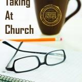 Note Taking at Church