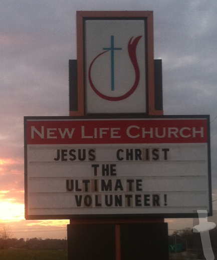 New Life Church - Jesus Christ The Ultimate Volunteer