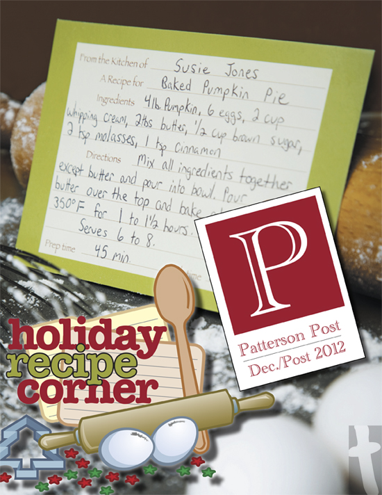 Patterson Post 2012 - Recipe Guide Cover