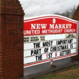 Christmas Church sign
