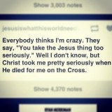 Christ Took Me Seriously