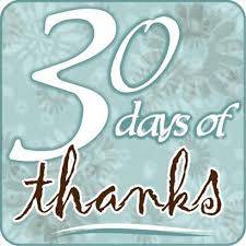 30 Days of Thanksgiving Day 2