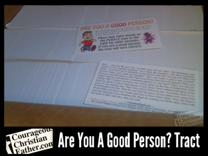 Are You A Good Person? Tract (Good Person Test Gospel Tract Recreated & Professionally Printed)
