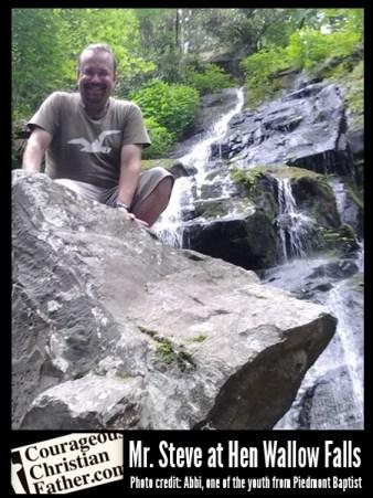 Mr. Steve at Hen Wallow Falls