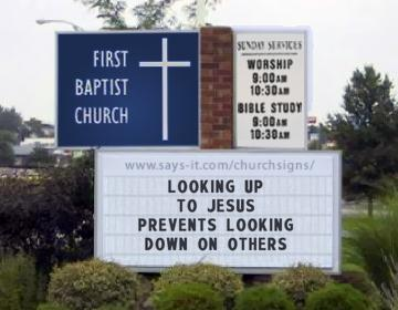 Church Sign Generated to read Looking Up To Jesus Prevents ...