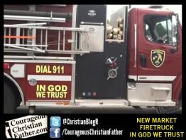 New Market Firetruck - In God We Trust