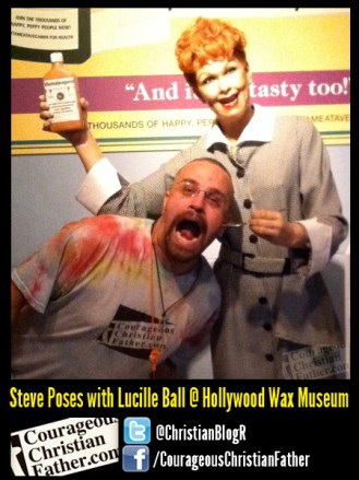 Steve Poses with Lucille Ball @ Hollywood Wax Museum