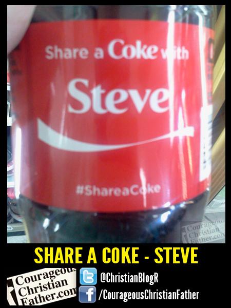 Share a Coke - Steve #shareacoke