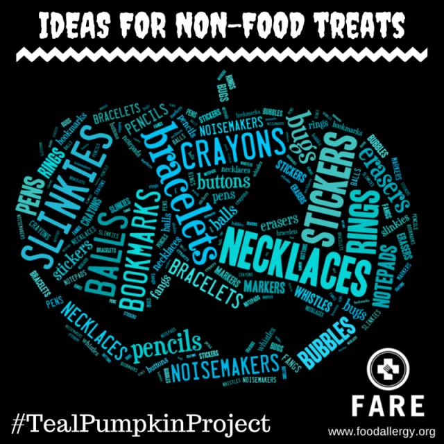 The Teal Pumpkin Project - Ideas for Non-Food Treats - #TealPumpkinProject #Halloween #Teal #FoodAllergies
