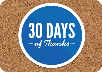 30 Days of Thanksgiving: Day 21