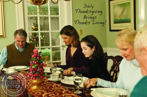 Daily Thanksgiving Brings Thanks Living