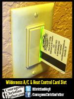 Wilderness A/C & Heat Control Card Slot
