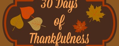 30 Days of Thanksgiving: Day 28