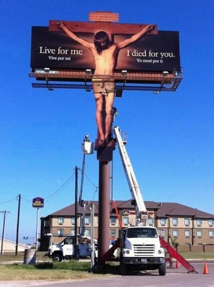 Jesus On the Cross Billboard