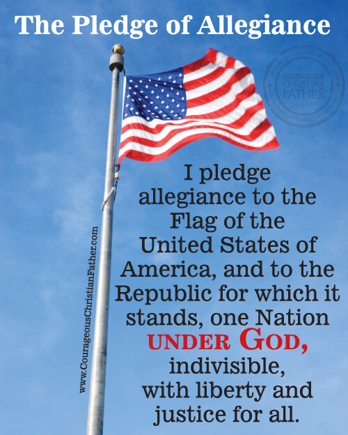 picture regarding Pledge of Allegiance Printable titled The Pledge of Allegiance Brave Christian Dad