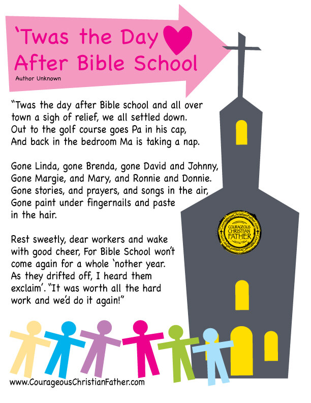 Twas the Day After Bible School