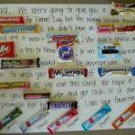 Father's Day Candy Bar Greeting Card