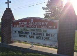 Witnessing (Church Sign - New Market United Methodist Church)